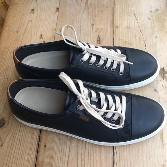 Womens Ecco Brand Navy Blue Sneakers